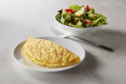 Fiesta Cheese Omelet with Side Salad