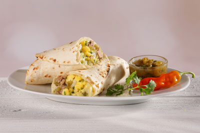 Green Chile Pork and Egg Breakfast Burrito