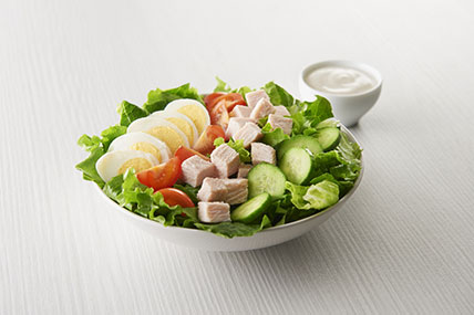 Cobb Salad with Hard Cooked Eggs